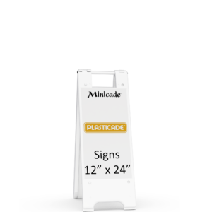 Minicade sign stand